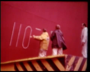 BB-1151 Reportage over de bouw van het Hefschip Ostrea, bouwnummer 351. Dit speciale vaartuig is bedoeld voor de Deltawerken.