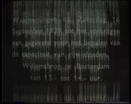 BB-1397 Registratie van de verkeersdrukte met name het fietsverkeer op 16 september 1939 op de Willemsbrug. Speelduur: ...