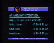 BB-2068 Uitzending kabelkrant opgezet door de Avondbladen Combinatie Rotterdam op de lokale zender; Rotterdamse ...