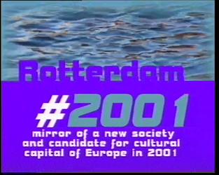 BB-3393 Promotiefilm met als doel om Rotterdam Culturele Hoofdstad van Europa te maken. Diverse internationale mensen ...