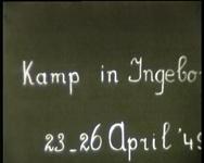 BB-3891 Kampweek in Ingeborg met eindexamenkandidaten van de Koningin Wilhelmina Kweekschool van het jaar 1949; ...
