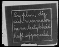 BB-5190 1. Instructiefilm met tussentitels voor bezorgers van Bakkerij Jansse: verdwaalde dame aan de Maashaven wordt ...