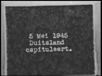 BB-6047 Film met tussentitels over de bevrijding. Schiedam, wapperende vlaggen. De radio wordt weer geïnstalleerd. ...
