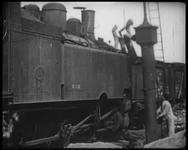 BB-7491 Franse film over transporten per trein, stations en diverse treingerelateerde zaken. Onduidelijk is waar de ...