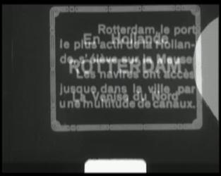 BB-7534 Pathé Baby oplage-film met tussentitels over Rotterdam. Opnames van de Leuvebrug, Parkhavenoever, de Nieuwe ...