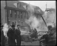 BB-7578 Het gebouw voor Kunsten en Wetenschappen aan de Schiedamschensingel stond op 11 juli in brand. De dochter van ...