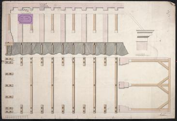 PW-1595 Tekening van de stadsturfloods aan de Schiedamsesingel bij de Schiedamsche Poort