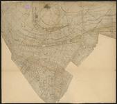 PW-484 Kaart van de waterdiepten in de Nieuwe Maas. Afgebeeld gebied: de stad Rotterdam en de Nieuwe Maas voor de stad.