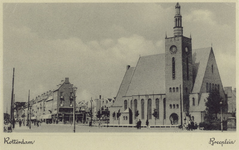 PBK-1042 Het Breeplein met de gereformeerde Breepleinkerk.