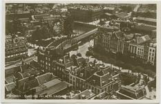PBK-10837 Overzicht van het zuidoostelijke deel van het stadscentrum vanaf de Grote Kerk. Op de voorgrond het ...