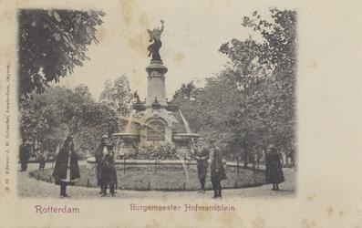 PBK-1087 Fontein - Monument aan het Burgemeester Hoffmanplein, uit het noordoosten gezien.