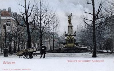 PBK-1089 Fontein - Mounment aan het Burgemeester Hoffmanplein, uit het noordoosten gezien.
