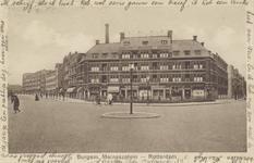 PBK-1098 Gezicht op het Burgemeester Meineszplein, uit het oosten. Rechts de Beukelsweg en links de Van Citterstraat.