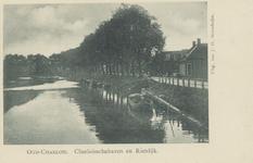 PBK-1109 De haven van Charlois,vanuit het noorden.Tot demping van de haven is overgegaan in 1906.