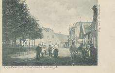 PBK-1117 Het zuidelijk deel van de Charloisse Kerksingel, gezien uit het westen. Links het voormalige kerkhof.