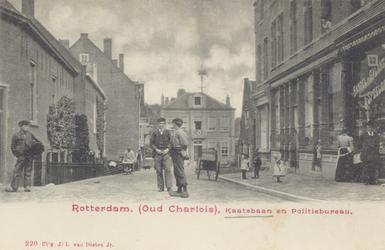 PBK-1120 De Kaatsbaan, uit het zuiden, vanaf de Charloisse Kerksingel nabij de Grondherendijk. Op de achtergrond het ...