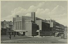 PBK-1125 Gezicht op de Mathenesserkerk. Rechts de Van Citterstraat, links de Allard Piersonstraat. Uit het zuidwesten.