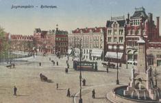 PBK-1299 Coolsingel uit het noordoosten gezien, op de achtergrond het winkelpand van A. Jungerhans en café Boneski. Op ...
