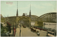 PBK-13272 De Willemsbrug en de Spoorbrug over de Nieuwe Maas, gezien vanaf de oprit van de Maaskade.