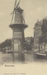 PBK-1416 Gezicht op de Coolsingel met korenmolen De Hoop, tot het jaar 1911 was de naam De Roomolen en in 1920 werd de ...