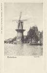 PBK-1419 Gezicht op de Coolsingel met korenmolen De Hoop, tot het jaar 1911 was de naam De Roomolen en in 1920 werd de ...