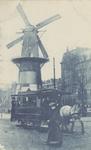 PBK-1420 Gezicht op de Coolsingel met korenmolen De Hoop, tot het jaar 1911 was de naam De Roomolen. Op de voorgrond ...