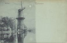 PBK-1442 Gezicht op de Coolsingel met het pontje, op nummer 82 korenmolen De Hoop, tot het jaar 1911 was de naam De ...