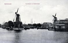 PBK-15 Middenkous uit het zuiden gezien. Met Voor- en Achterhaven en de molens De Distilleerketel en De Waakzaamheid.