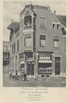 PBK-151 Gezicht op de banketbakkerij Concordia van B.J. Carlier en boven een woonhuis aan de Avenue Concordia.