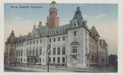 PBK-1547 Het stadhuis aan de Coolsingel gezien uit het zuiden. Rechts de Stadhuisstraat.