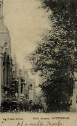 PBK-159 De Gereformeerde Avenuekerk aan de westzijde van de Avenue Concordia, hoek Annastraat.