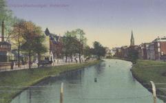 PBK-1672 Crooswijksesingel, vanuit het noordwesten. Op de achtergrond de toren van Redemptoristenkerk aan de Goudse Rijweg.