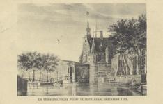 PBK-1696 Gezicht op de Sint Joris- of Delftse Poort aan de Coolsingel, uit het westen.