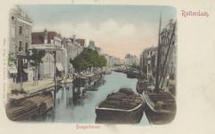 PBK-1816 Gezicht op de Delftsevaart, uit het noordwesten. Links aan het westelijk eind van het Stokvisverlaat een ...
