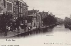 PBK-1818 De Delftsevaart met links de ophaalbrug over het Stokvisverlaat, uit het noordwesten gezien.