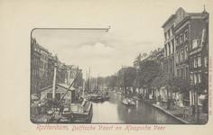 PBK-1832 De Delftsevaart gezien uit het zuiden, vanaf de Raambrug.