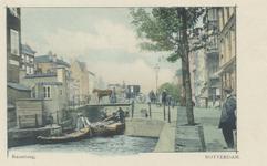 PBK-1845 De Raambrug over de Delftsevaart met op de achtergrond huizen aan het Haagseveer, uit het zuidoosten gezien.
