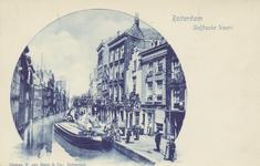 PBK-1851 Gezicht op de Delftsevaart, op nummer 79 de brandstoffenhandel van J. de Groot, op de achtergrond de Raambrug, ...