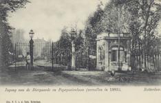 PBK-1874 De toegang ( hoofdingang ) van de Rotterdamsche Diergaarde tot 1883.