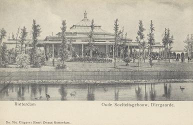 PBK-1891 Het sociëteitsgebouw in de Rotterdamsche Diergaarde.