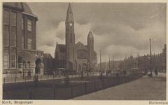 PBK-193 Gezicht in de Bergselaan uit het zuidwesten. Links het H.B.S.-schoolgebouw en de Gereformeerde Bergsingelkerk ...