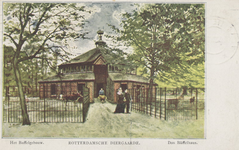 PBK-1934 Het buffelgebouw in de Rotterdamsche Diergaarde.