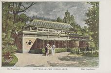 PBK-1936 Het vogelgebouw op het terrein van de Rotterdamsche Diergaarde.