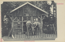 PBK-1938 Het olifantengebouw in de Rotterdamsche Diergaarde.