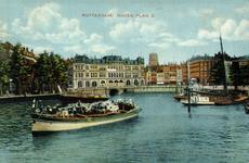 PBK-1983-1115 Oudehaven. Op de achtergrond het verzamelgebouw Plan C aan de Oudehavenkade.
