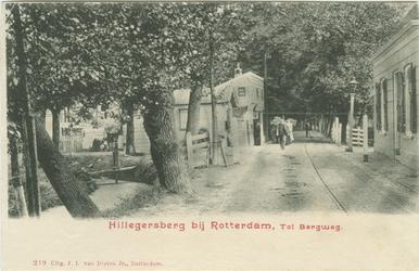 PBK-1983-1292 De tol aan de Bergweg en de Kleiweg, uit het zuiden. Tot 1907 was de tol met de houten tolgaarderswoning ...
