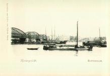 PBK-1983-1350 De spoorbrug over de Nieuwe Maas gezien in de richting van het Bolwerk.