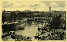 PBK-1983-1359 Oudehaven vanuit het zuiden. Rechts de Spaansekade, links de Geldersekade en op de achtergrond Plan C.