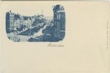 PBK-1983-1404 Overzicht van de Delftsevaart en het Haagseveer. Op de voorgrond de Galerijbrug en op de achtergrond de ...