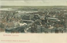 PBK-1983-1409 Overzicht van het zuidoostelijke deel van het stadscentrum vanaf de Grote Kerk. Links op de voorgrond het ...